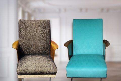 Sessel neu gepolstert