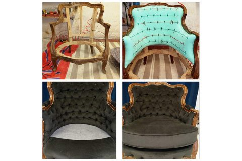 Sessel komplett restauriert